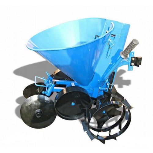 Картофелесажатель мотоблочный К-1Л (синий) с колесами